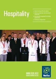 WelTec's Hospitality Programmes - Wellington Institute of Technology