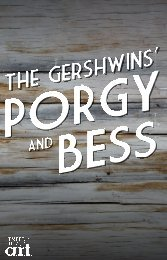 Porgy and Bess Program [pdf] - American Repertory Theater