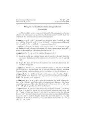 Zusatzblatt - Fachbereich Mathematik