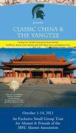Classic China & the Yangtze - MSU Alumni Association - Michigan ...