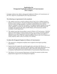 Application for Designated Emphasis in History of Consciousness ...