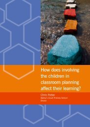 How does involving the children in classroom planning ... - CUREE