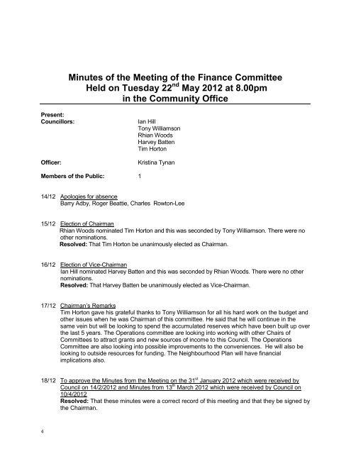 May 2012 - Watlington Parish Council