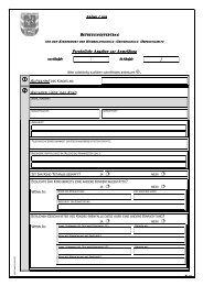 Persönliche Angaben zur Anmeldung Persönliche Angaben zur ...