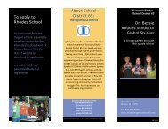 About School District 65: To apply to Rhodes