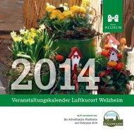 Veranstaltungskalender 2014(pdf) - Stadt Welzheim