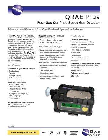 QRAE Plus Data Sheet - RAE Systems