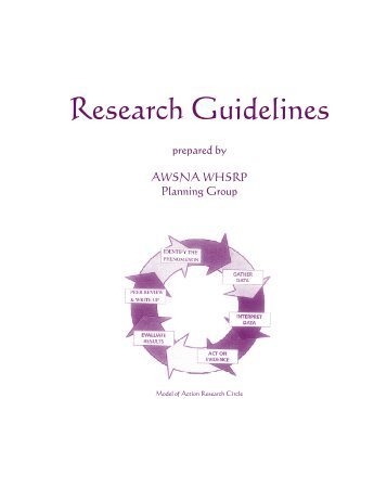 Research Guidelines - Waldorf Research Institute