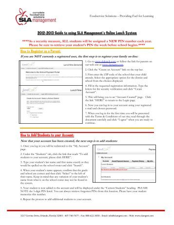 School Lunch Online Payment System Instructions - Cathedral ...