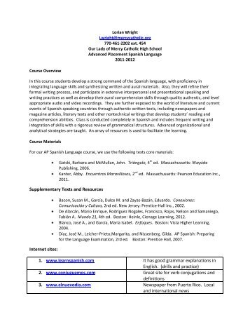 Supplementary Texts and Resources Internet sites: 1. www ...