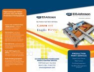 See our Production Print Services brochure - EO Johnson