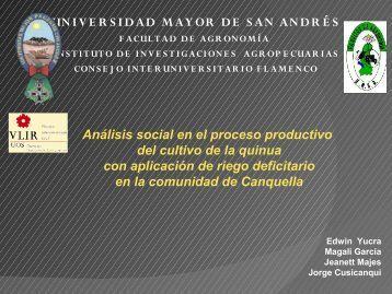 Edwin Yucra (Universidad Mayor de Los Andes, Bolivia) - cazalac