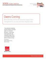 Case Study - Xerox Global Services - Owens Corning (PDF, 664 KB)