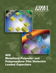 Metallized Polyester Film Dielectric Capacitors Characteristics - AVX