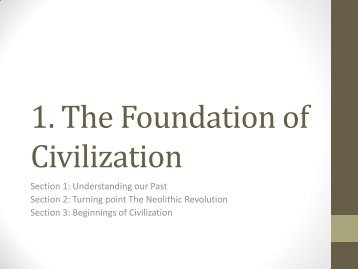 1. The Foundation of Civilization - Our Lady of Mercy Catholic High ...