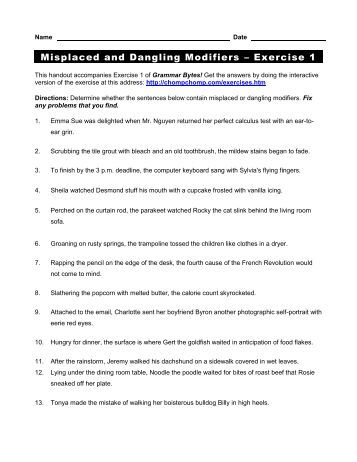 Worksheet Parallel Structure Worksheet parallel structure worksheet exercise 1 answers intrepidpath 2 grammar bytes