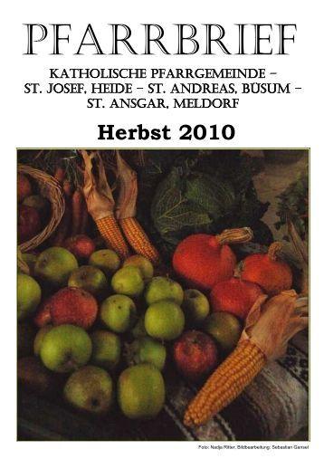 Herbst 2010 - Katholische Pfarrgemeinde St. Josef - Heide