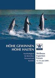 HÖHE GEWINNEN HÖHE HALTEN - Deutscher Wellness Verband eV