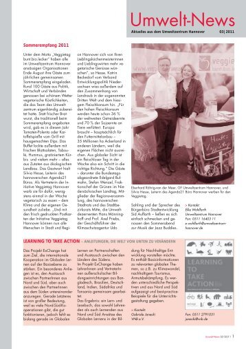 Umwelt-News 3/2011 - Umweltzentrum Hannover eV