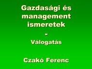 Gazdasági és management ismeretek