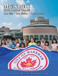 2012 Annual Report for Print - Town of Markham