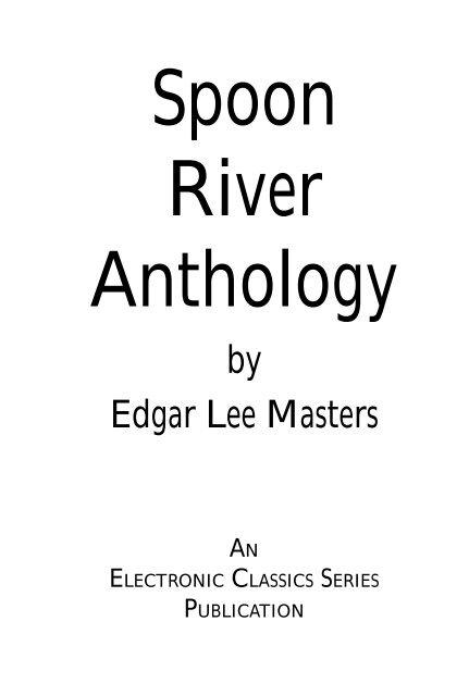 Spoon River Anthology Penn State University