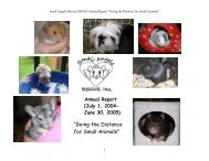 2004-05 annual report - Small Angels Rescue