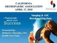 Mike McCaslin, CPA, Somerset - California Orthopaedic Association