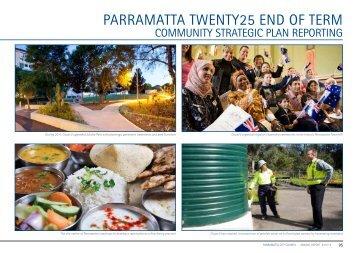 End of Term Report Parramatta Twenty25 Community Strategic Plan