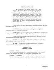 Zoning Code 1 ORDINANCE NO. 4932 AN ... - City of Bremerton