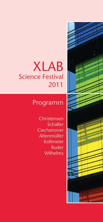 Science Festival 2011 Programm - XLAB