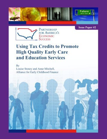 Using Tax Credits to Promote High Quality Early Care and