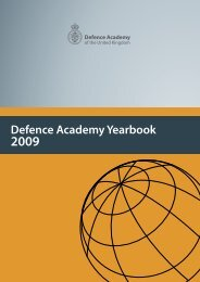 Defence Academy Yearbook 2009 - Defence Academy of the United ...