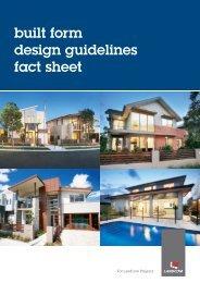built form design guidelines fact sheet - Landcom