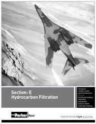 Section: E Hydrocarbon Filtration - Parker