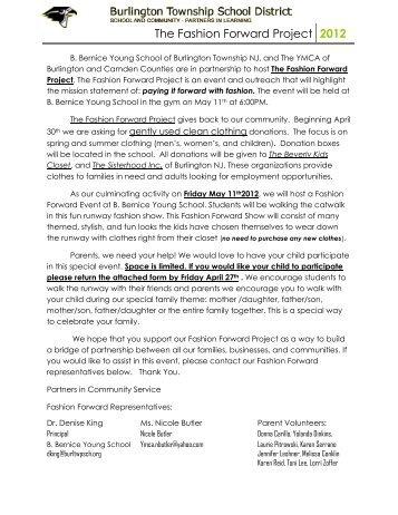 The Fashion Forward Project 2012 - Burlington Township Schools