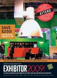 Save $250! - Exhibitor Magazine