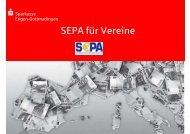 SEPA-Vortrag Vereine - Sparkasse Engen-Gottmadingen