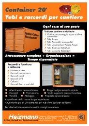 Container 20' Tubi e raccordi per cantiere Ogni cosa ... - Heizmann AG