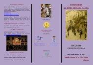 Ciclo de Conferencias: Antequera. La otra Semana Santa.