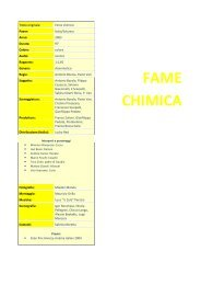 FAME CHIMICA - Cineplex