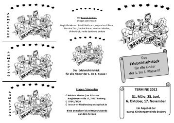 Flyer Brunch-for-kids - Evangelische Kirchengemeinde Enzberg