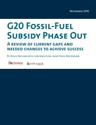 G20 Fossil-Fuel Subsidy Phase Out A review of current ... - Earth Track