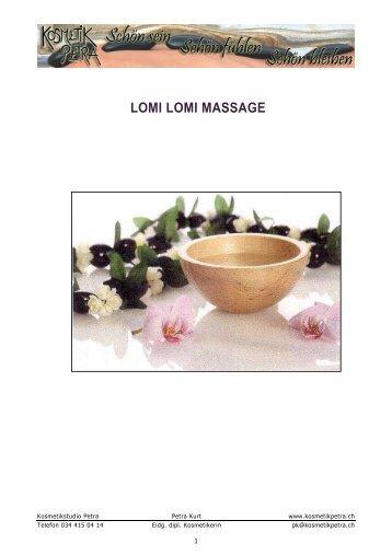 Lomi Lomi Massagen - Kosmetikstudio Petra