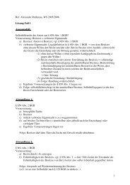 1 Ref. Alexander Rathenau, WS 2005/2006 Lösung Fall 1 ...