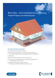 BIA- Betriebs und Installationsanleitung Hygiene Luft ... - Pluggit
