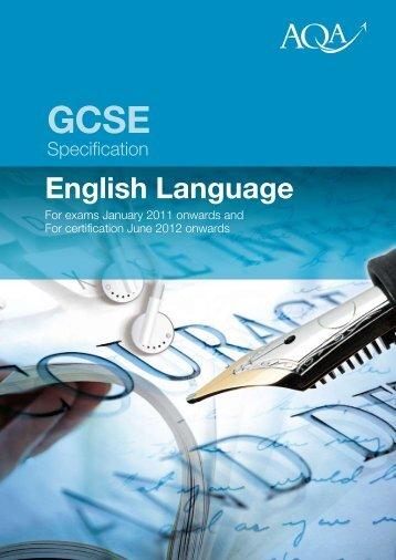 GCSE English Language Specification - Kingsdown School