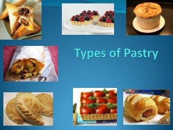 Types of Pastry - Kingsdown School