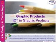 ICT in Graphic Products - Kingsdown School