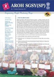 SGSY-NL October-December 2011 2.pmd - Aroh Foundation